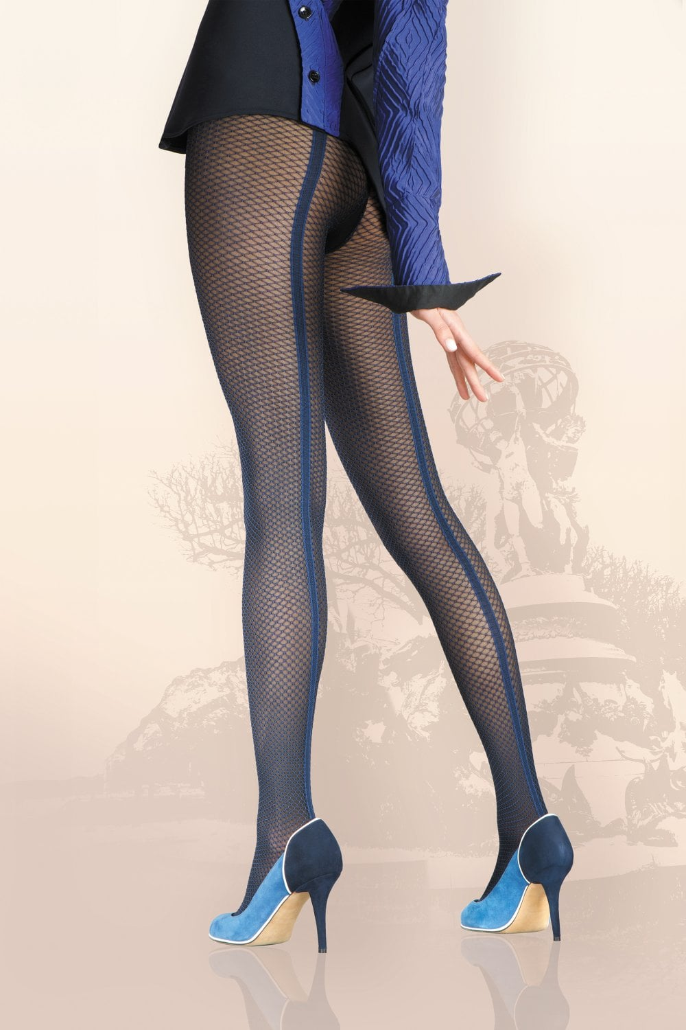 00a97d65e Gerbe Sensualite Seamed Fishnet Tights