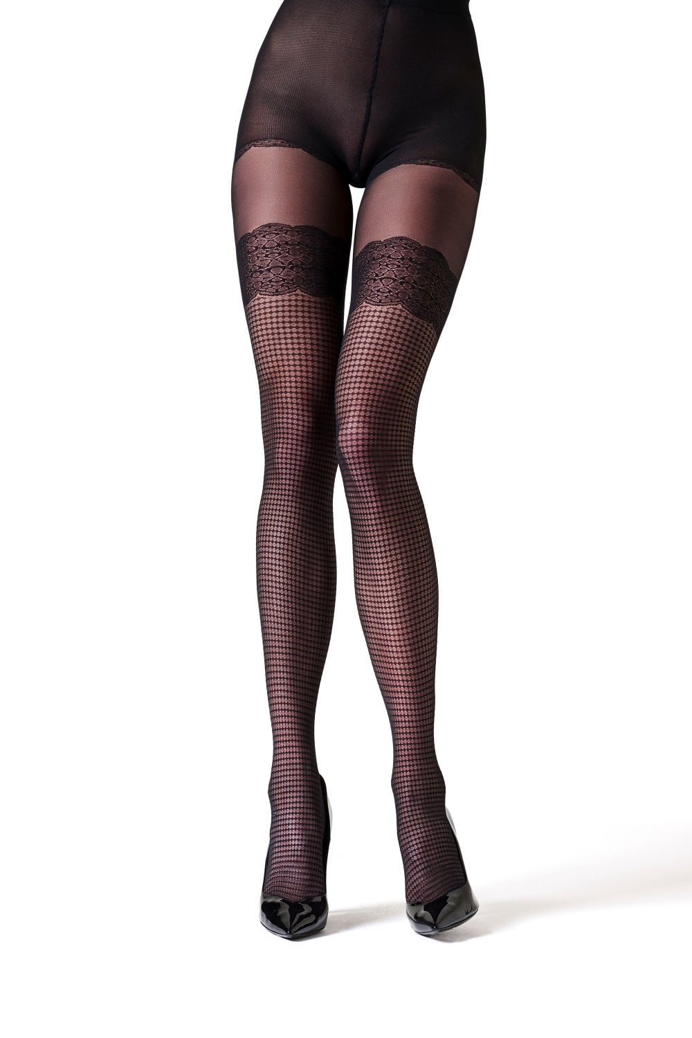 buying new premium selection huge selection of La Perla Checked Tights | Patterned Tights at Leglicious