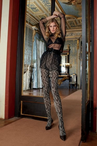 Trasparenze Carnation Suspender Tights Patterned Tights lace tights