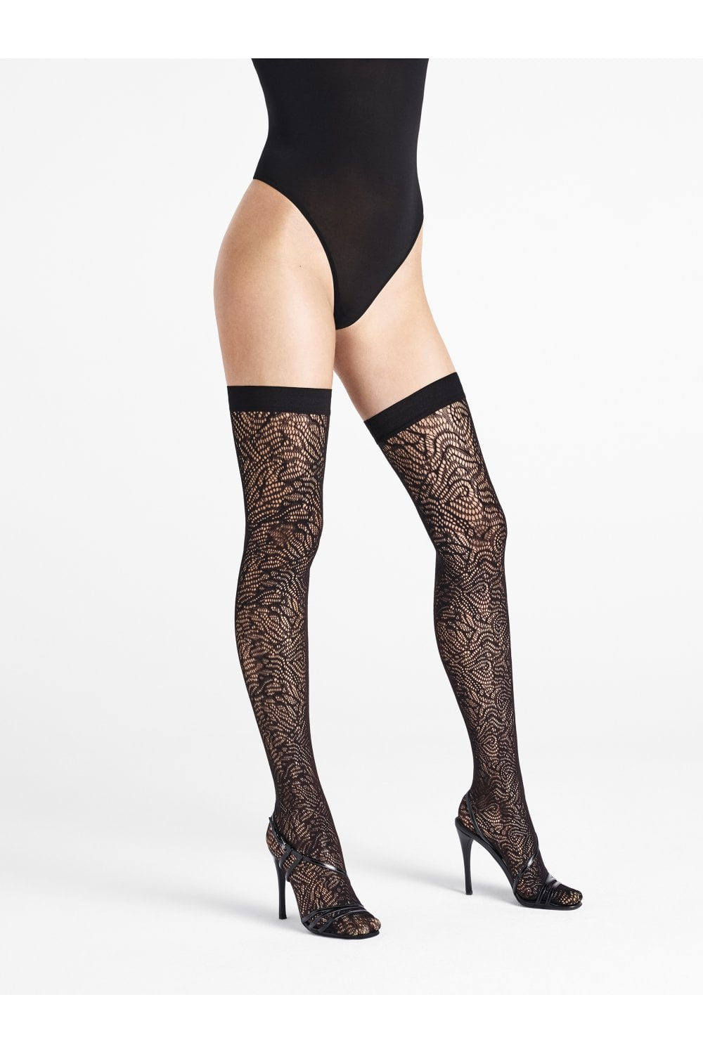 ec5ea8bcf3c Wolford True Blossom Floral Hold Ups